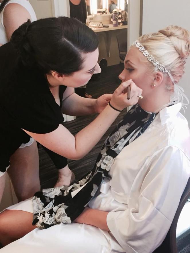 Christina Smith Applying Makeup