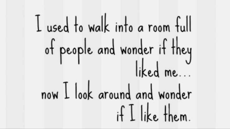 Room full of people quote